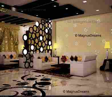 Mandir designs in living room